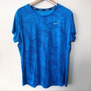 Nike Dry Fit Short Sleeve Workout T-Shirt XL Blue